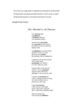 Prefix Poem Project