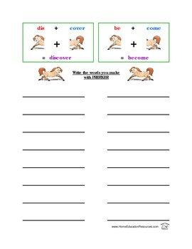 Prefix Ponies Phonics Spelling Activity