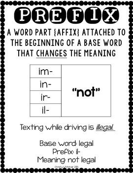 Prefix Power: im-, in-, ir-, il-