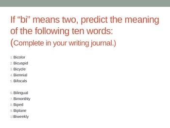 Prefix Powerpoint Bi