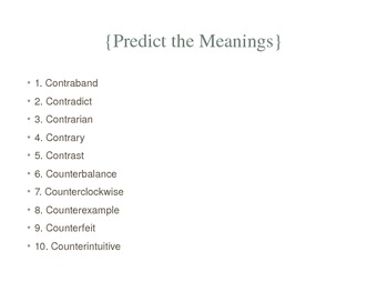 Prefix Powerpoint Countra and Counter