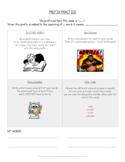 Prefix Practice Choice Board! (color coding-poem creations