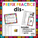 Prefix Practice: DIS-