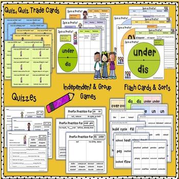 PREFIXES Practice, Sorts, Quiz Quiz Trade, Anchor Charts & Assessments.
