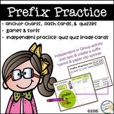 PREFIXES Practice & Activities, Root Words,  Anchor Charts & Assessments