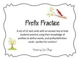 Prefix Practice Task Cards