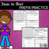 Prefixes Vocabulary Practice and Reading Comprehension Passages