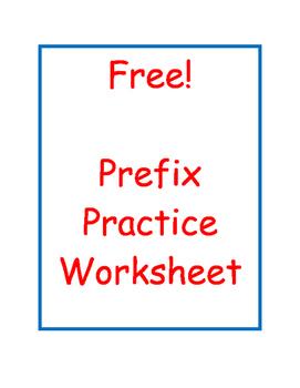 Prefix Practice Worksheet