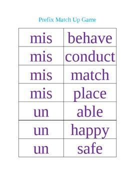 Prefix Practice and Activity