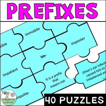 Prefix Puzzles - 40 different prefixes puzzle