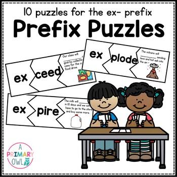 Prefix Puzzles: Word Work  Prefix ex-