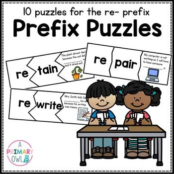 Prefix Puzzles: Word Work  Prefix re-