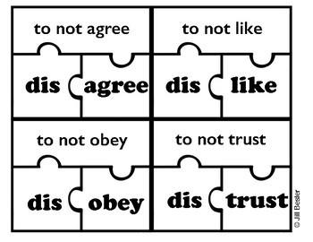 Prefix Puzzles ( dis- )