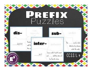 Prefix Puzzles - for Upper Elementary