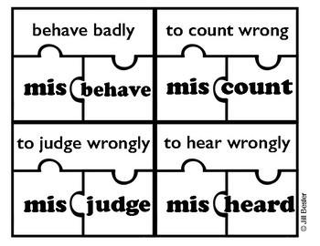 Prefix Puzzles ( mis- )