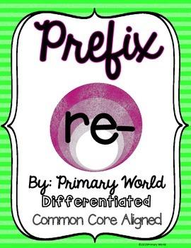 Prefix Re- Activity CCSS