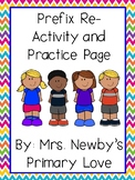 Prefix Re- Activity and Practice Page