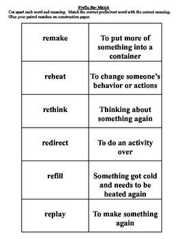 Prefix Re- Matching Cut and Paste Activity