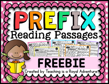 Prefix Reading Passage FREEBIE