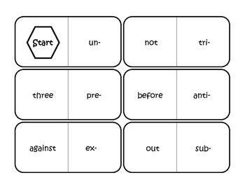 Prefix Review Domino Set 1