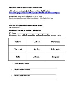Prefix Review Lesson Plan