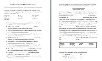 Prefix & Root Word Parts Levels 1 - 5 Bundle (Worksheet and Quiz)