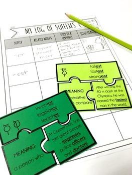 Prefix, Root Word, & Suffix Puzzle Bundle {100 Puzzles for Middle Grades}
