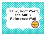 Prefix, Root Word, Suffix Word Wall