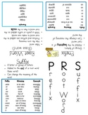 Prefix, Root Word, and Suffix Booklet