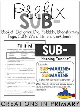 Prefix SUB-