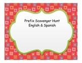 Prefix Scavenger Hunt Spanish & English