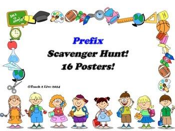 Prefix: Scavenger Hunt and 16 Posters!