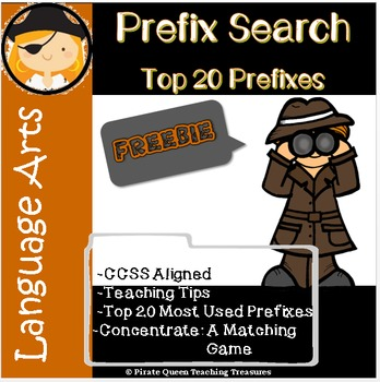 Prefix Search: Top 20 Used Prefixes/Common Core Aligned