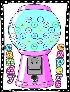 Prefix Set {Anchor Chart, Game, Worksheets}