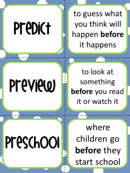 Prefix Set - Posters, Graphic Organizer, Practice Sheets, Matching Game