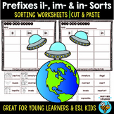 Prefix Sort IL, IM, IN   Cut and Paste Worksheets