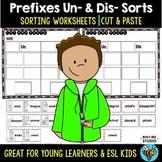 Prefix Sort Un- vs Dis-   Cut and Paste Worksheets