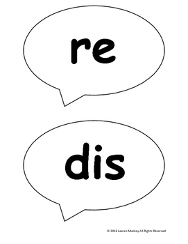 Prefix Speech Bubble Game