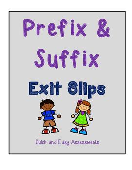 Prefix & Suffix Unit Assessments