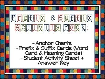 Prefix & Suffix Activity Pack [CC Aligned]