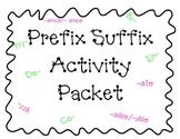 Prefix Suffix Activity Packet CCSS