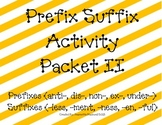 Prefix Suffix Activity Packet CCSS Set 2