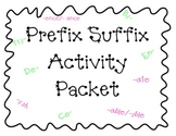 Prefix Suffix Activity Packets 1-3 BUNDLED