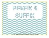 Prefix & Suffix Anchor Chart