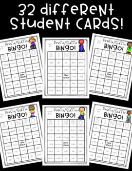 Prefix & Suffix BINGO! *32 different cards!*