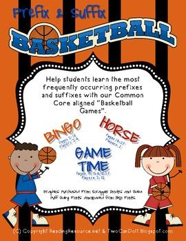 Prefix & Suffix Basketball Games