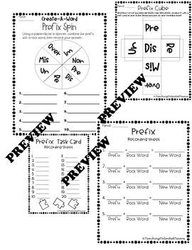 Prefix & Suffix Activity Pack