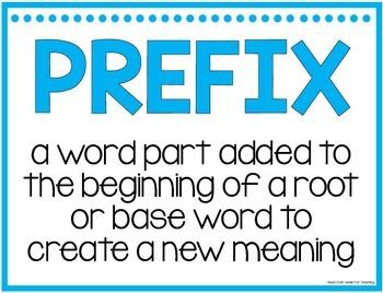 Prefix & Suffix Fill-Ins