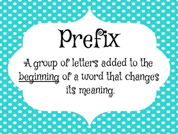 Prefix-Suffix Game, Bookmarks, Class Posters