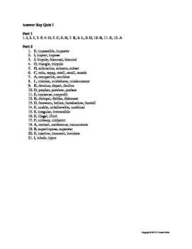 Prefix Suffix Greek Latin Root Word Quiz Bundle